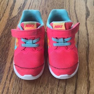 Nike Downshifter Toddler- bright pink/orange/teal